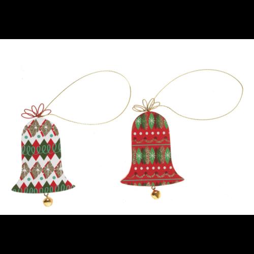 Option2 XMAS Village Bells Ornament 2-Sided - Printed Wood