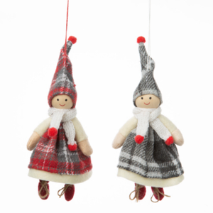 Option2 Children in Tartan Costumes XMAS Ornament 7 ins.