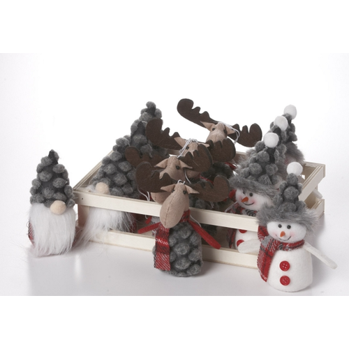 V & L Associates Inc. Christmas Characters Red/Grey 5 ins.