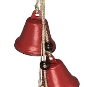 V & L Associates Inc. Red Metal Bell Cluster/4 XMAS Ornament 14 ins.