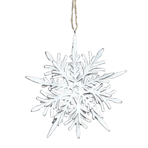 V & L Associates Inc. Metal Snowflake Ornament 6 x 6.5 ins.