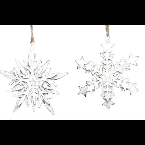 V & L Associates Inc. Metal Snowflake Ornament 5 x 5 ins.