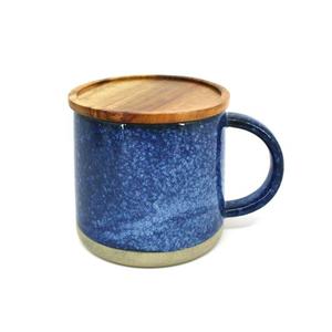 BIA Reactive Mug with Acacia Lid Blue