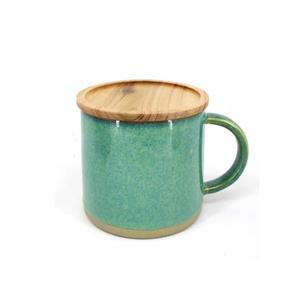 BIA Reactive Mug with Acacia Lid Green