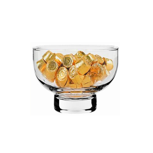 Natural Living Glass Footed Bowl 14.5cm