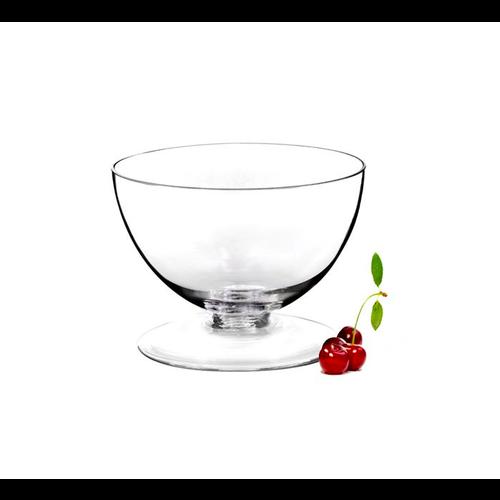 Natural Living Glass Pedestal Bowl 17.5cm