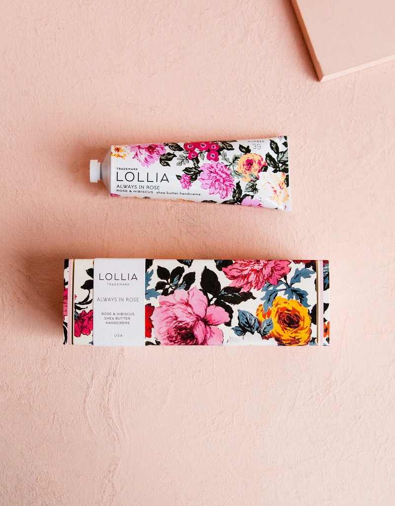 LOLLIA SHEA BUTTER HAND CREME - ALWAYS IN ROSE
