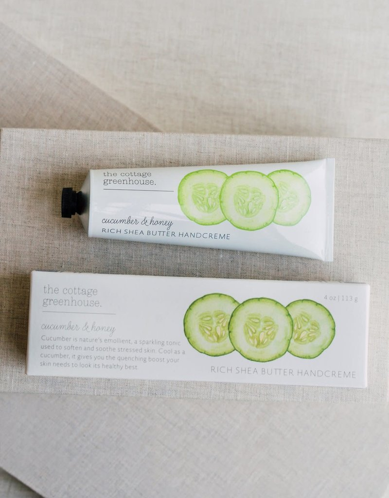 COTTAGE GREENHOUSE RICH SHEA BUTTER HAND CREME | CUCUMBER & HONEY