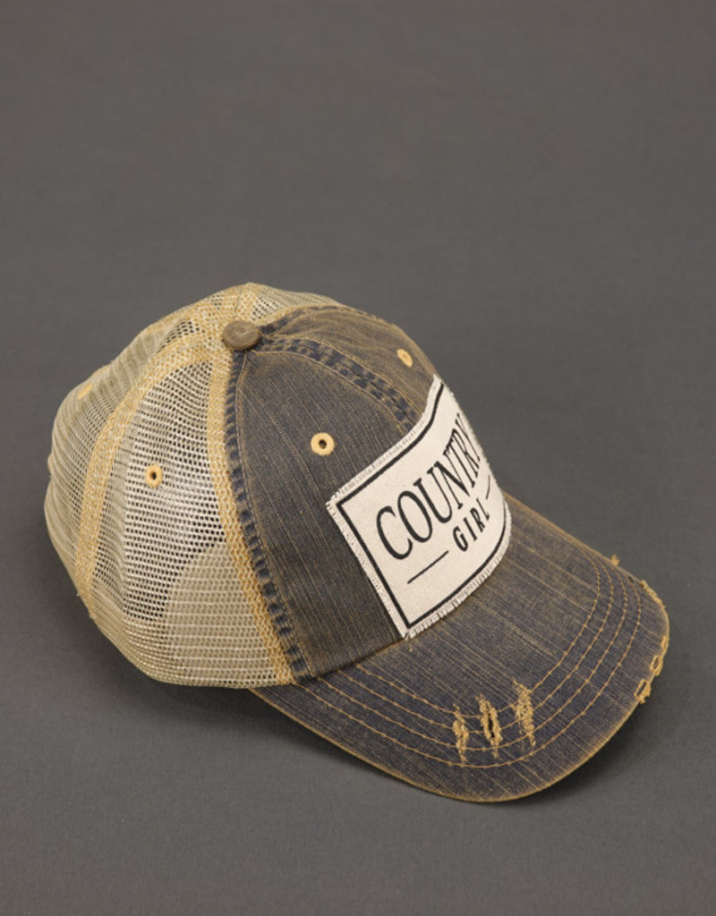 VINTAGE LIFE COUNTRY GIRL TRUCKER HAT