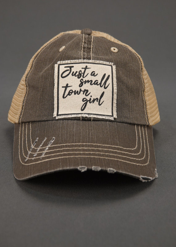 VINTAGE LIFE JUST A SMALL TOWN GIRL TRUCKER HAT