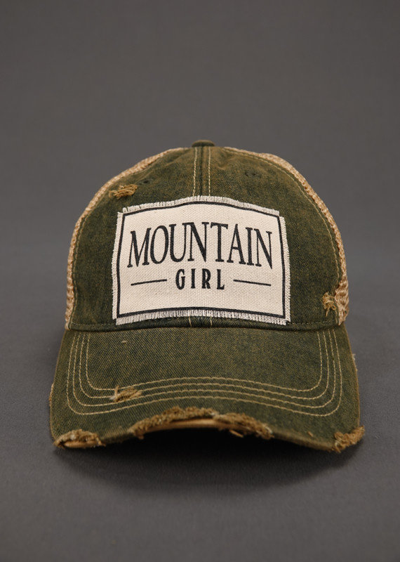 VINTAGE LIFE MOUNTAIN GIRL TRUCKER HAT