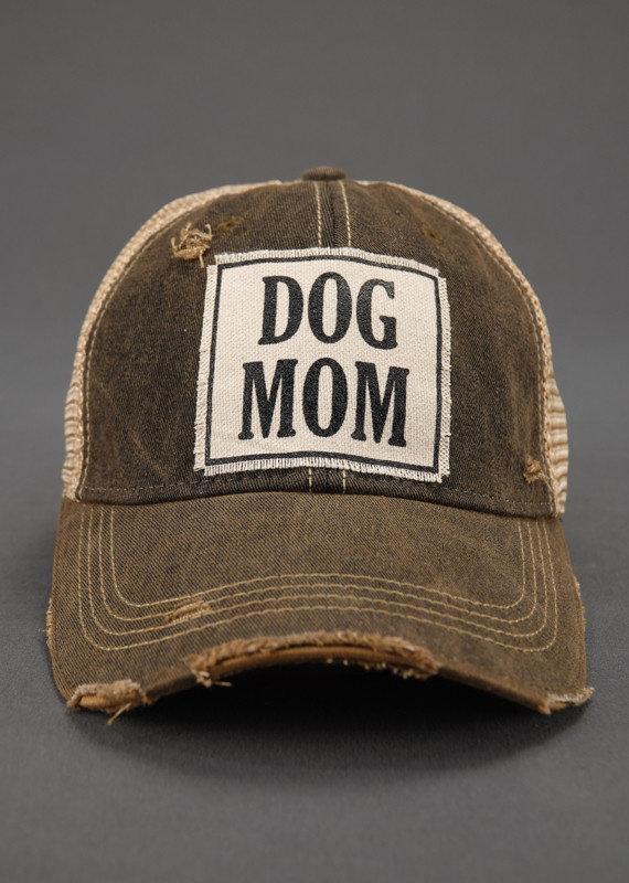VINTAGE LIFE DOG MOM TRUCKER HAT