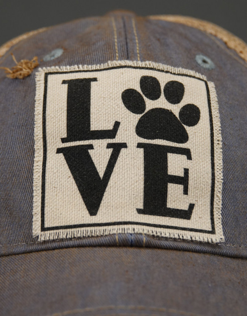 VINTAGE LIFE LOVE PAW TRUCKER HAT