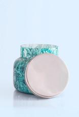 CAPRI BLUE WATERCOLOR GLASS CANDLE - VOLCANO