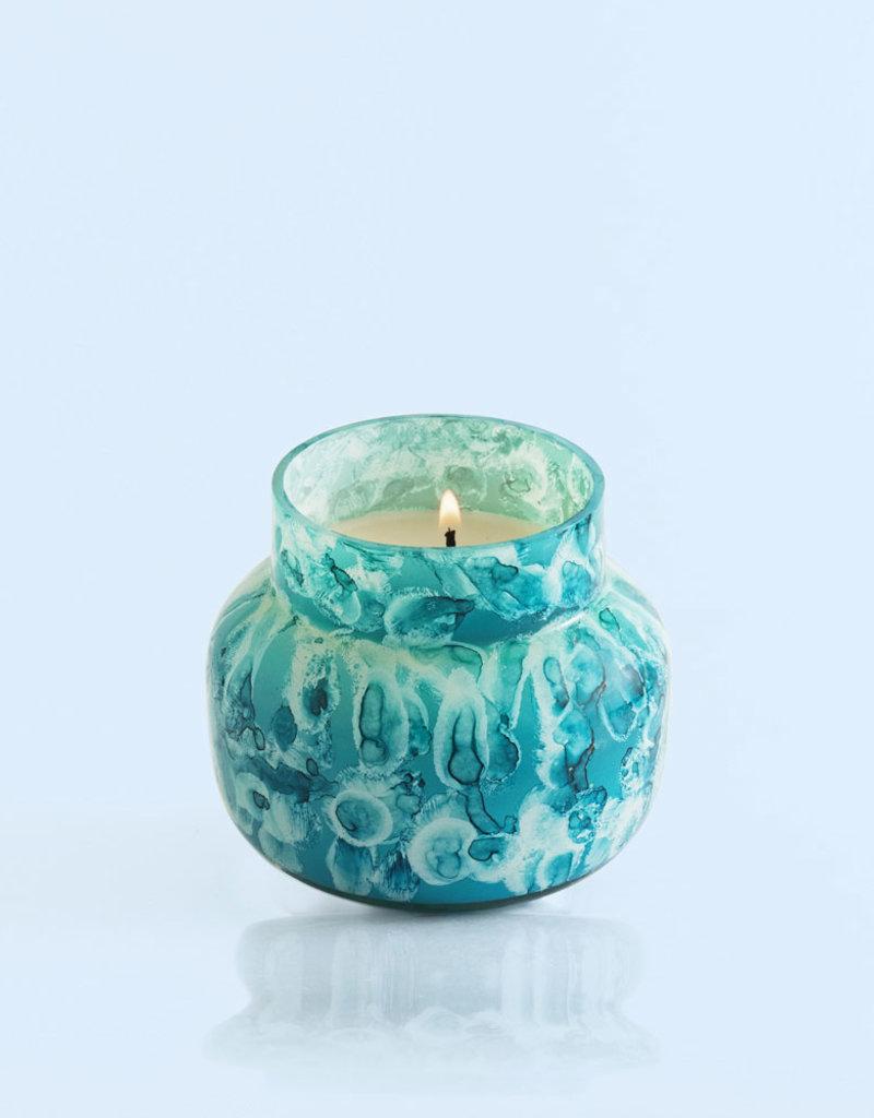 CAPRI BLUE PETITE WATERCOLOR GLASS CANDLE - VOLCANO