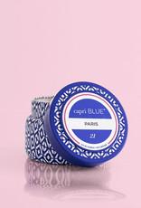 CAPRI BLUE PARIS PRINTED TRAVEL TIN CANDLE