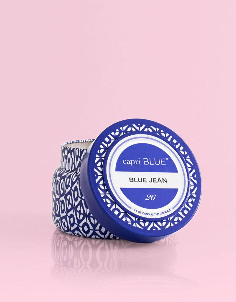 CAPRI BLUE BLUE JEAN PRINTED TRAVEL TIN CANDLE