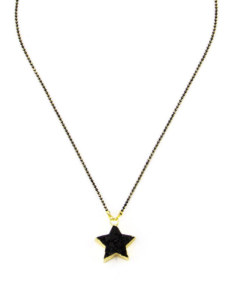 SANTORE DRUZY BLACK STAR NECKLACE