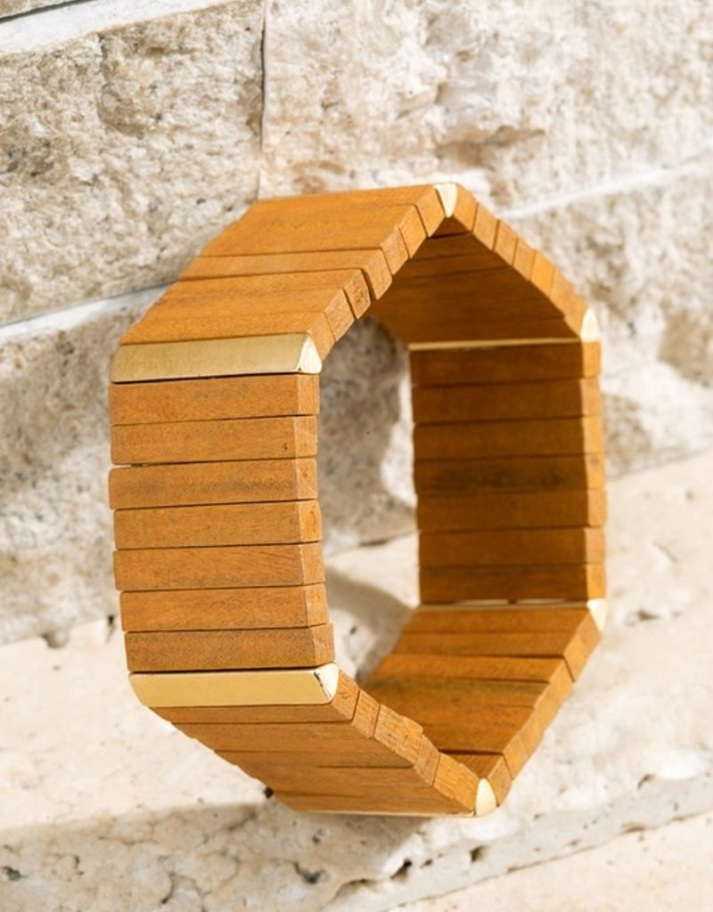 URBANISTA Geometric Wood Bracelet