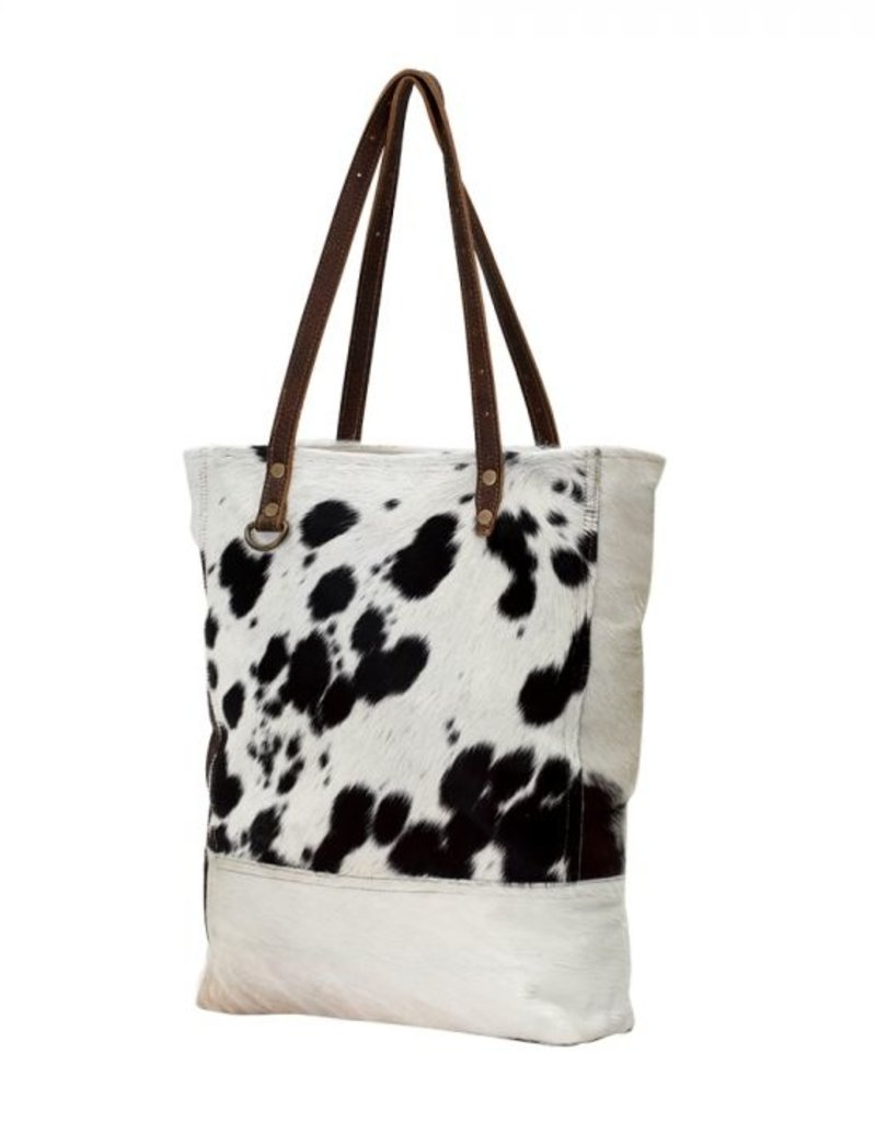 MYRA BLACK & WHITE IMPRESSION HAIRON BAG