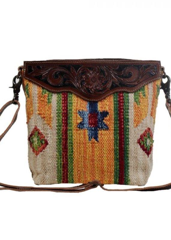 MYRA TINI MINI HAND-TOOLED BAG