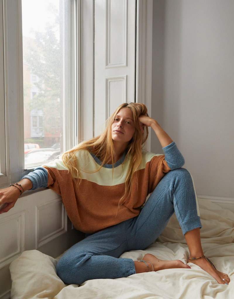 FREE PEOPLE BLUE MONDAY FLEECE PULL OVER