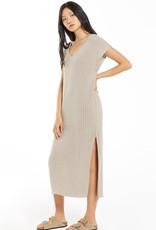 Z SUPPLY SWEATER DRESS - LATTE