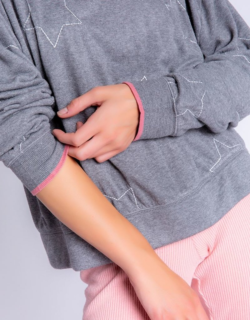 PJ SALVAGE Starstruck Embroidered Pullover Sweatshirt