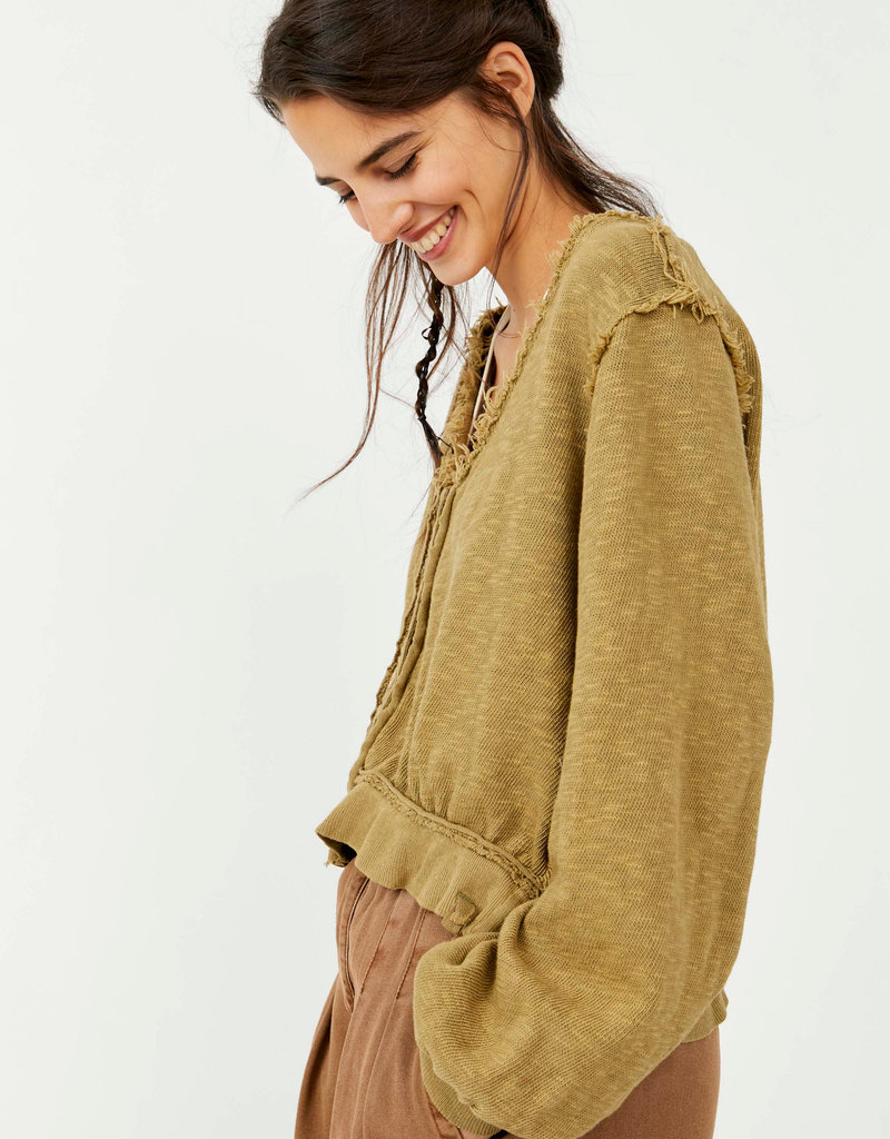 FREE PEOPLE GOLDEN ROAD CARDI - WILLOW