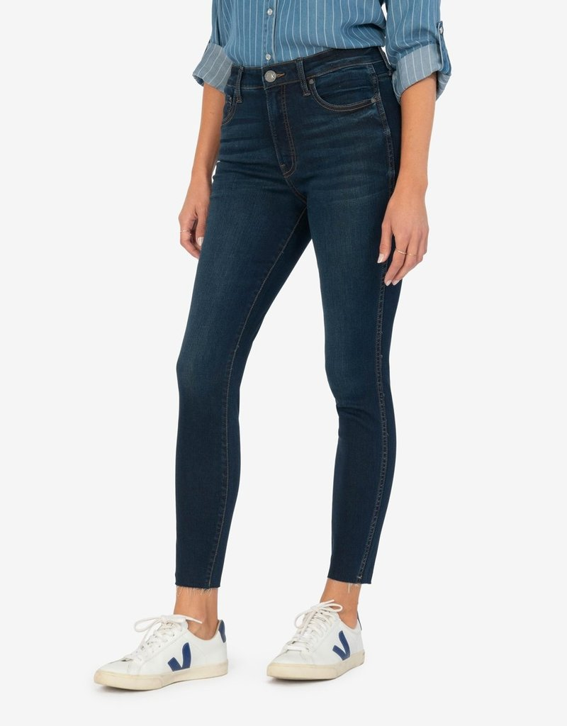 KUT FROM THE KLOTH CONNIE HIGH RISE FAB AB SLIM FIT ANKLE SKINNY (ALTER WASH)