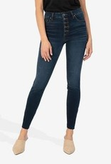 KUT FROM THE KLOTH CONNIE HIGH RISE FAB AB SLIM FIT ANKLE SKINNY-GIDDY WASH