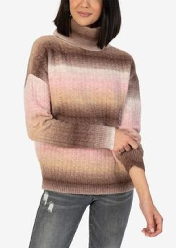 KUT FROM THE KLOTH EVEA SWEATER-BLUSH/BROWN