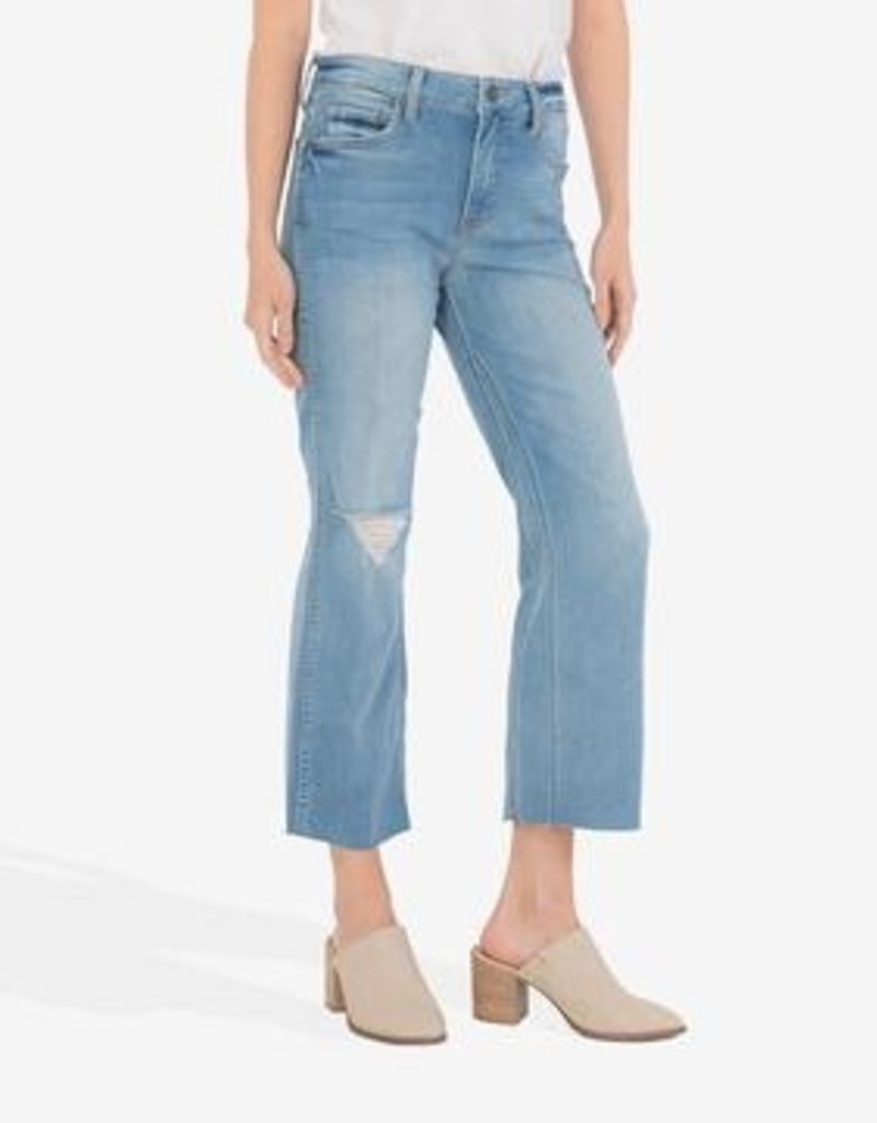 KUT FROM THE KLOTH KELSEY HIGH RISE FAB AB ANKLE FLARE-GLORIFIED WASH