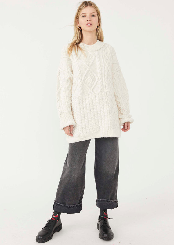 FREE PEOPLE LESLIE CABLE TUNIC