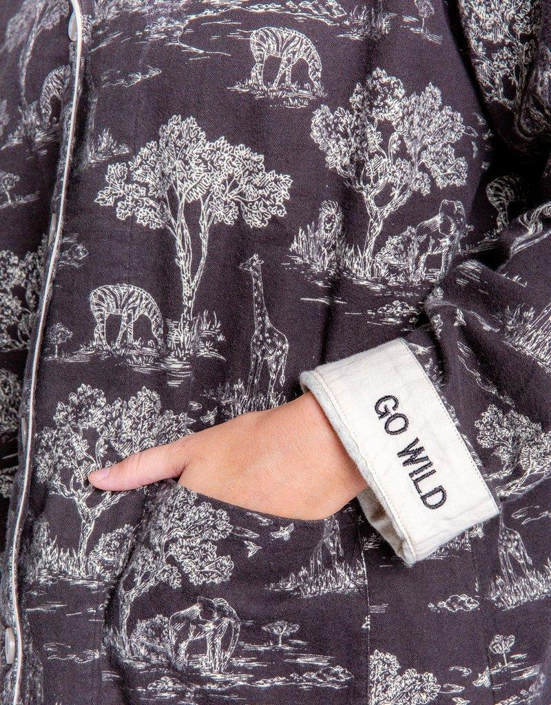 PJ SALVAGE FLANNEL SET   GO WILD
