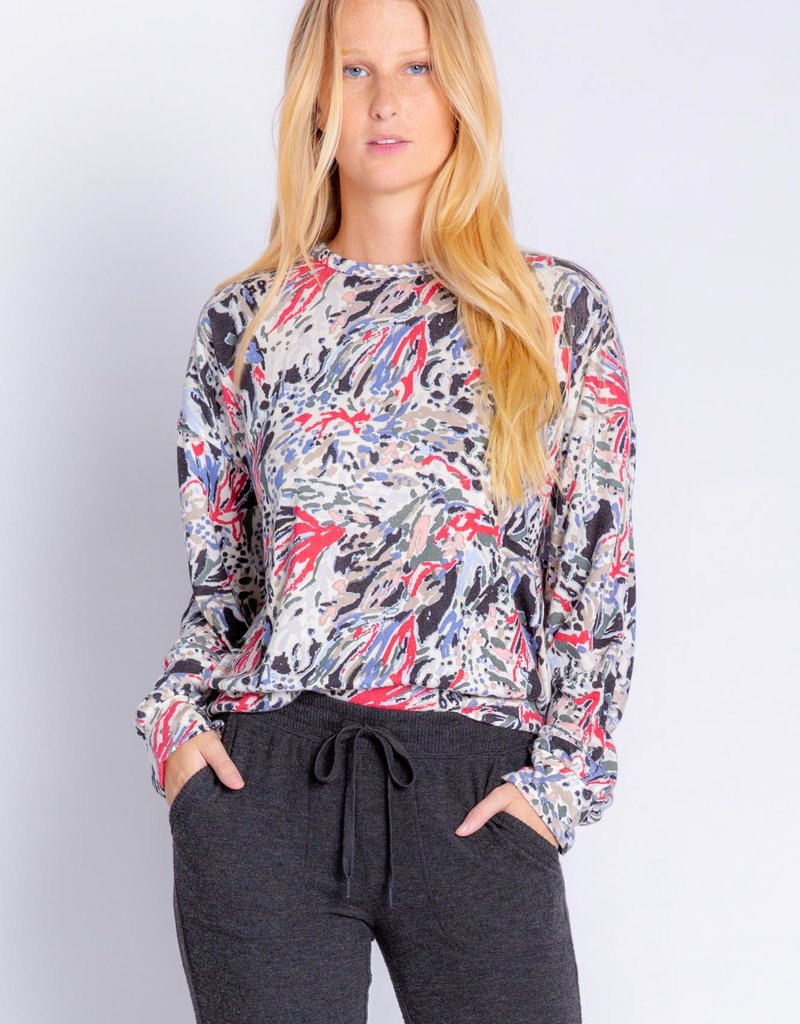 PJ SALVAGE WHEN YOU KNOW YOU KNOW LONG SLEEVE TOP
