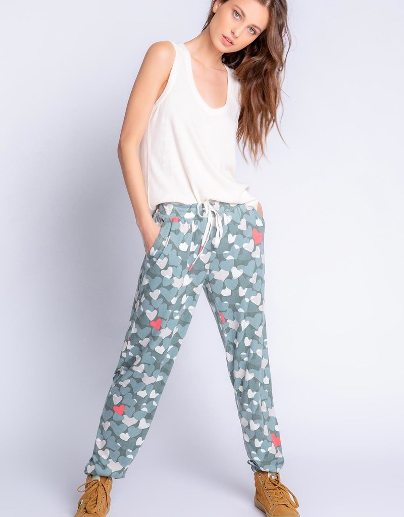 PJ SALVAGE  LOVE IN CAMO BANDED PANT
