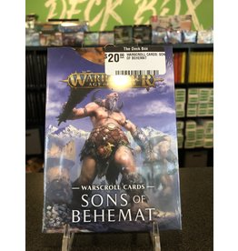 Age of Sigmar WARSCROLL CARDS: SONS OF BEHEMAT