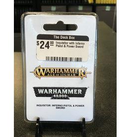 Warhammer 40K Inquisitor with Inferno Pistol & Power Sword
