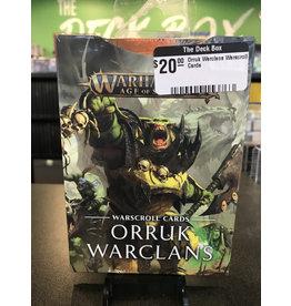 Age of Sigmar Orruk Warclans Warscroll Cards