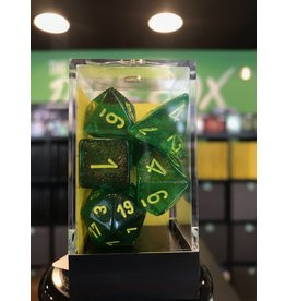 7- Dice Set BOREALIS 7-DIE SET MAPLE GREEN/YELLOW