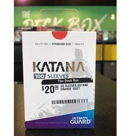 Katana UG SLEEVES KATANA ORANGE 100CT