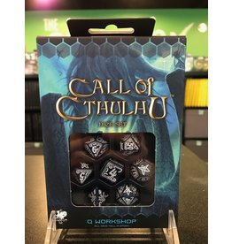 7- Dice Set CALL OF CTHULHU ABYSSAL AND WHITE DICE  SET