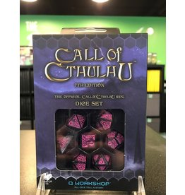 7- Dice Set CALL OF CTHULHU DICE SET: BLACK/MAGENTA  SET