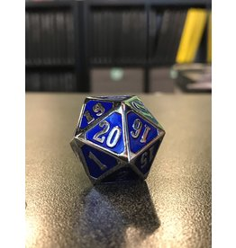 Life Counter METAL MTG ROLL DOWN COUNTER SHINY  SILVER SAPPHIRE