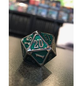 Life Counter METAL MTG ROLL DOWN COUNTER SHINY  SILVER EMERALD