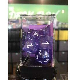 7- Dice Set BOREALIS 7-DIE SET PURPLE/WHITE LUMINARY