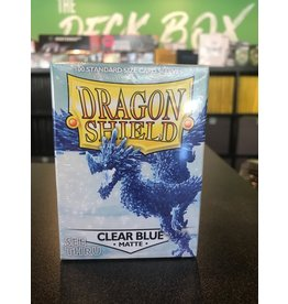 Dragon Shield DRAGON SHIELD SLEEVES MATTE CLEAR BLUE 100CT