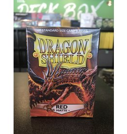 Dragon Shield DRAGON SHIELD SLEEVES MATTE RED 100CT