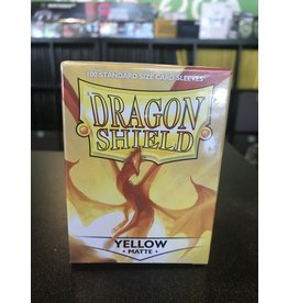 Dragon Shield DRAGON SHIELD SLEEVES MATTE YELLOW 100CT